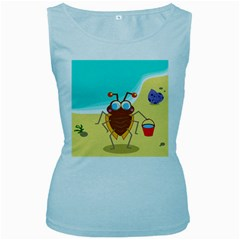 Animal Nature Cartoon Bug Insect Women s Baby Blue Tank Top