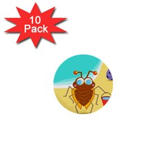 Animal Nature Cartoon Bug Insect 1  Mini Buttons (10 Pack)