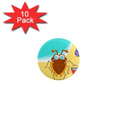 Animal Nature Cartoon Bug Insect 1  Mini Magnet (10 Pack)