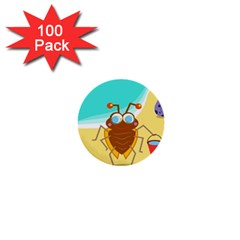 Animal Nature Cartoon Bug Insect 1  Mini Buttons (100 Pack)