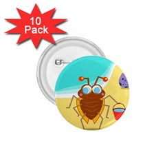 Animal Nature Cartoon Bug Insect 1 75  Buttons (10 Pack)