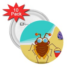 Animal Nature Cartoon Bug Insect 2 25  Buttons (10 Pack)