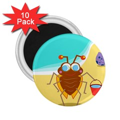 Animal Nature Cartoon Bug Insect 2 25  Magnets (10 Pack)