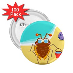 Animal Nature Cartoon Bug Insect 2 25  Buttons (100 Pack)
