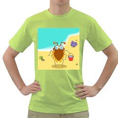 Animal Nature Cartoon Bug Insect Green T Shirt