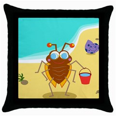 Animal Nature Cartoon Bug Insect Throw Pillow Case (black)