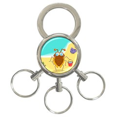 Animal Nature Cartoon Bug Insect 3 Ring Key Chains