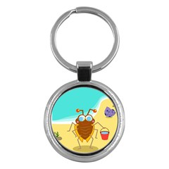 Animal Nature Cartoon Bug Insect Key Chains (round)
