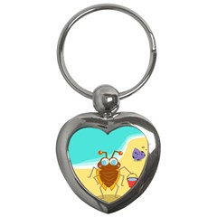 Animal Nature Cartoon Bug Insect Key Chains (heart)  by Nexatart