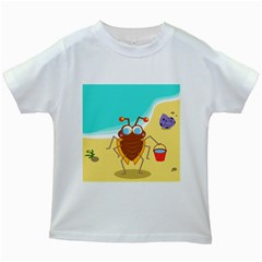 Animal Nature Cartoon Bug Insect Kids White T Shirts