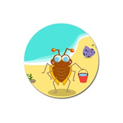 Animal Nature Cartoon Bug Insect Magnet 3  (round)