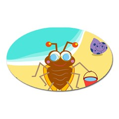 Animal Nature Cartoon Bug Insect Oval Magnet
