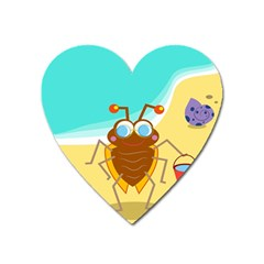Animal Nature Cartoon Bug Insect Heart Magnet