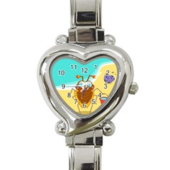 Animal Nature Cartoon Bug Insect Heart Italian Charm Watch