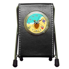 Animal Nature Cartoon Bug Insect Pen Holder Desk Clocks
