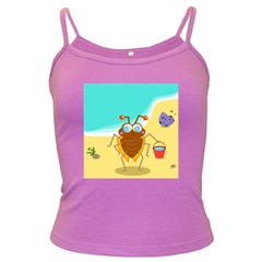 Animal Nature Cartoon Bug Insect Dark Spaghetti Tank