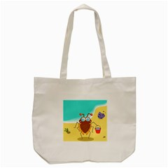 Animal Nature Cartoon Bug Insect Tote Bag (cream)