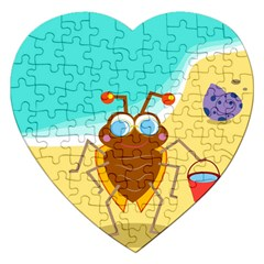 Animal Nature Cartoon Bug Insect Jigsaw Puzzle (heart)