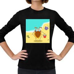 Animal Nature Cartoon Bug Insect Women s Long Sleeve Dark T Shirts