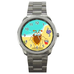 Animal Nature Cartoon Bug Insect Sport Metal Watch