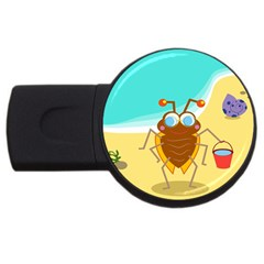 Animal Nature Cartoon Bug Insect Usb Flash Drive Round (4 Gb)
