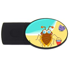 Animal Nature Cartoon Bug Insect Usb Flash Drive Oval (4 Gb)
