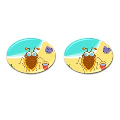 Animal Nature Cartoon Bug Insect Cufflinks (oval)