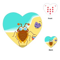 Animal Nature Cartoon Bug Insect Playing Cards (heart)