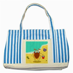 Animal Nature Cartoon Bug Insect Striped Blue Tote Bag