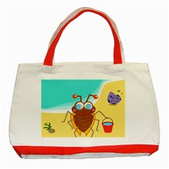 Animal Nature Cartoon Bug Insect Classic Tote Bag (red)