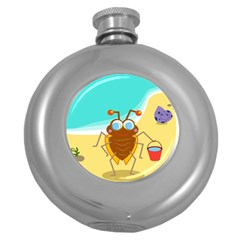 Animal Nature Cartoon Bug Insect Round Hip Flask (5 Oz)