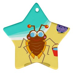 Animal Nature Cartoon Bug Insect Star Ornament (two Sides)