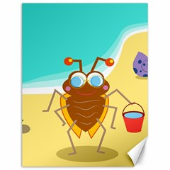Animal Nature Cartoon Bug Insect Canvas 12  X 16
