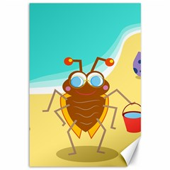 Animal Nature Cartoon Bug Insect Canvas 12  X 18
