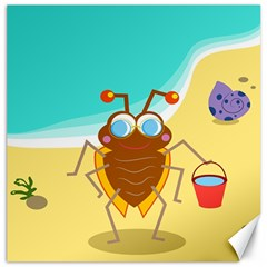 Animal Nature Cartoon Bug Insect Canvas 20  X 20