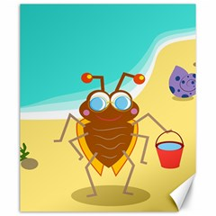 Animal Nature Cartoon Bug Insect Canvas 20  X 24