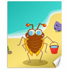 Animal Nature Cartoon Bug Insect Canvas 11  X 14