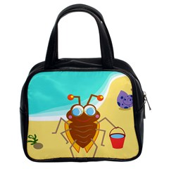 Animal Nature Cartoon Bug Insect Classic Handbags (2 Sides)