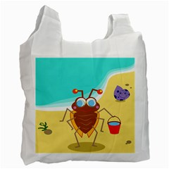Animal Nature Cartoon Bug Insect Recycle Bag (two Side)