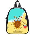 Animal Nature Cartoon Bug Insect School Bags (Small)  Front