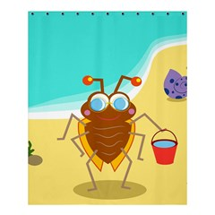 Animal Nature Cartoon Bug Insect Shower Curtain 60  X 72  (medium)