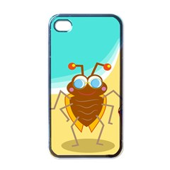 Animal Nature Cartoon Bug Insect Apple Iphone 4 Case (black)