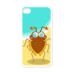 Animal Nature Cartoon Bug Insect Apple Iphone 4 Case (white)