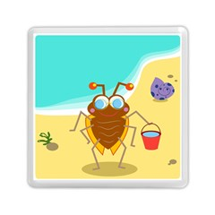 Animal Nature Cartoon Bug Insect Memory Card Reader (square)