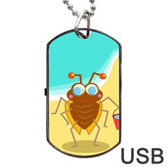 Animal Nature Cartoon Bug Insect Dog Tag Usb Flash (one Side)