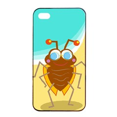 Animal Nature Cartoon Bug Insect Apple Iphone 4/4s Seamless Case (black)