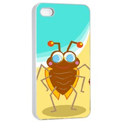 Animal Nature Cartoon Bug Insect Apple Iphone 4/4s Seamless Case (white)