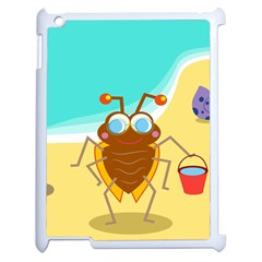 Animal Nature Cartoon Bug Insect Apple Ipad 2 Case (white)