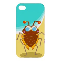 Animal Nature Cartoon Bug Insect Apple Iphone 4/4s Premium Hardshell Case