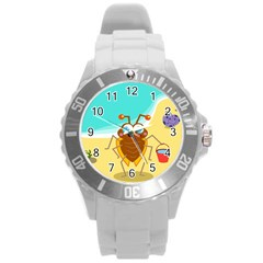 Animal Nature Cartoon Bug Insect Round Plastic Sport Watch (l)
